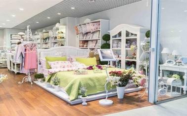 Перспективный магазин текстиля в ТЦ
