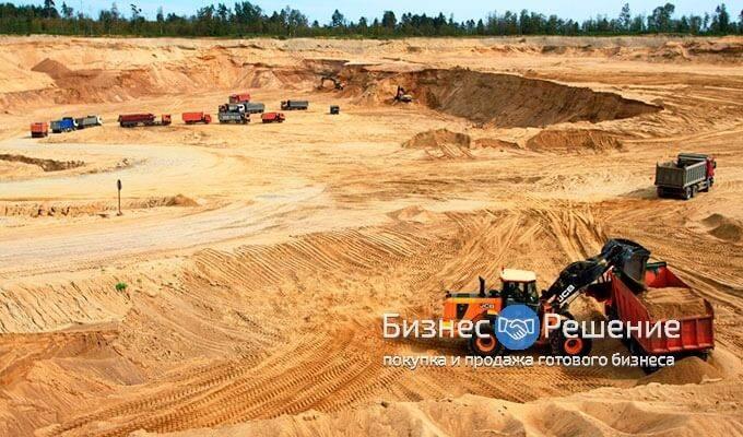 Карьер по добыче натурального песка в Московской области