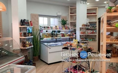 Магазин продуктов с помещением в собственности