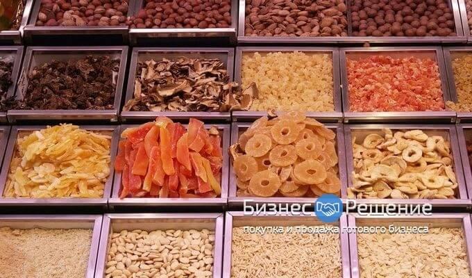 Действующие островки по продаже орехов, овощей и фруктов