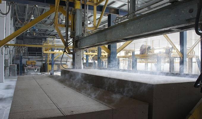 Завод по производству газобетонных блоков